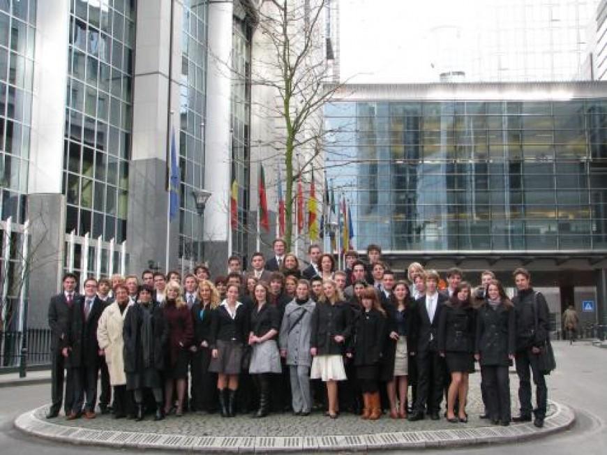 Foto's bezoek Europees Parlement Brussel online