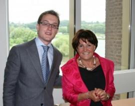 MEP Limburg bezoekt Europees Parlement Brussel