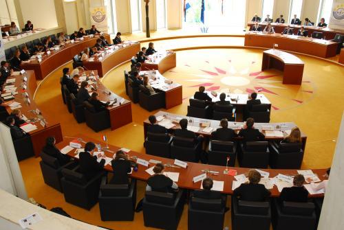 Overzichtsfoto tijdens de Plenaire Vergadering in de Statenzaal van het Gouvernement te Maastricht (dag 4)